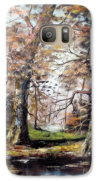 Galaxy Case featuring the painting Woodland Pond  by Lee Piper