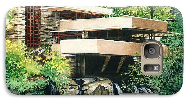 Galaxy Case featuring the painting Fallingwater-a Woodland Retreat By Frank Lloyd Wright by Barbara Jewell