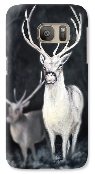 Galaxy Case featuring the painting Woodland Spirits by Nancy Bradley