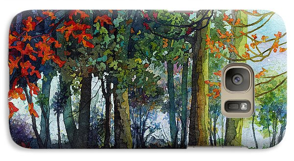 Galaxy Case featuring the painting Woodland Trail by Hailey E Herrera