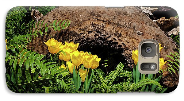 Galaxy Case featuring the photograph Woodland Tulip Garden by Tom Mc Nemar