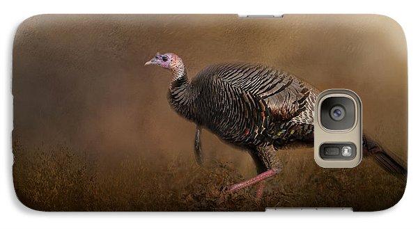 Woodland Walk - Wild Turkey Art Galaxy S7 Case by Jai Johnson