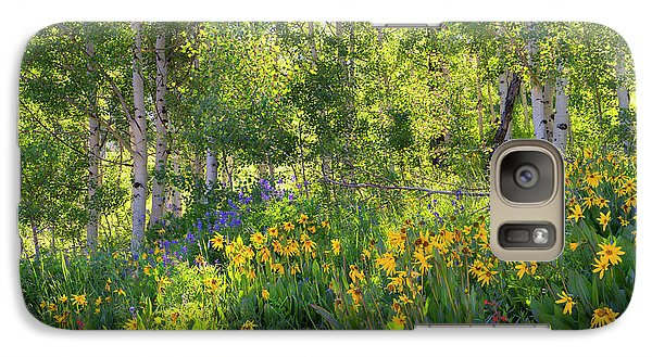 Galaxy Case featuring the photograph Woodland Wildflowers by Tim Reaves