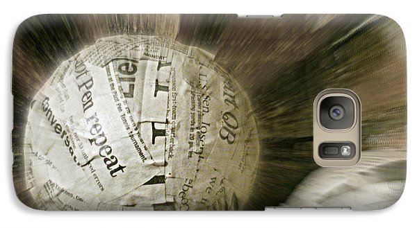 Galaxy Case featuring the photograph Word Shredder by Kristine Nora