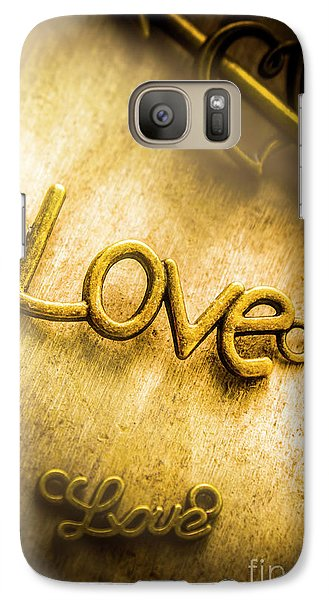 Words And Letters Of Love Galaxy Case by Jorgo Photography - Wall Art Gallery