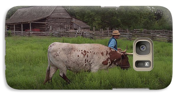 Galaxy Case featuring the photograph Working Farm Oxen by Joshua House