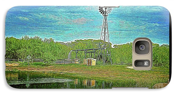 Galaxy Case featuring the photograph Working Windmill  by Ray Shrewsberry