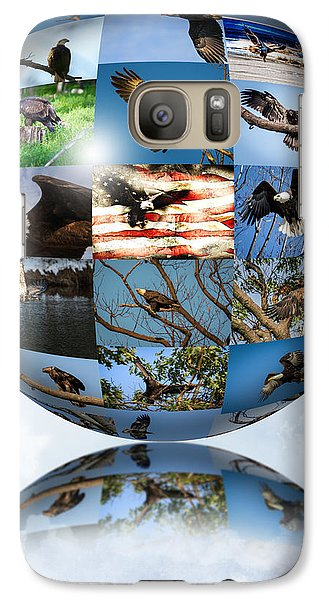 Galaxy Case featuring the photograph World Full Of Eagles by Eleanor Abramson