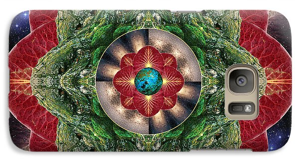 Galaxy Case featuring the photograph World-healer by Bell And Todd
