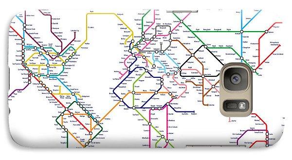 World Metro Tube Map Galaxy S7 Case by Michael Tompsett