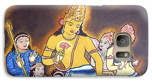 Galaxy Case featuring the painting World Renowned Ajanta Painting  by Ragunath Venkatraman