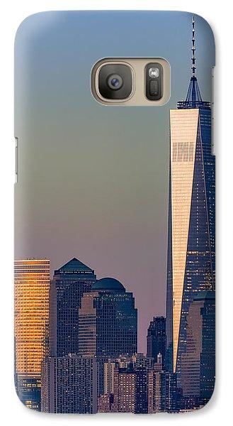 World Trade Center Downtown Manhattan Galaxy Case by Susan Candelario