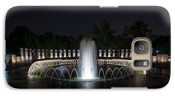 Galaxy Case featuring the photograph World War II Memorial At Night by Chrystal Mimbs