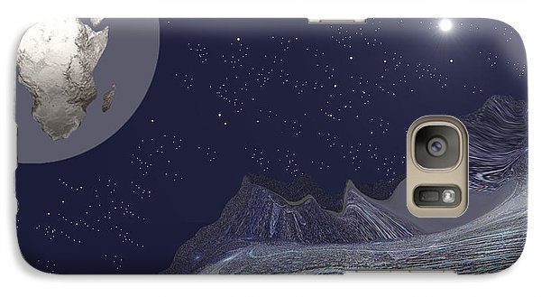 Galaxy Case featuring the digital art 1657 - Worlds - 2017 by Irmgard Schoendorf Welch