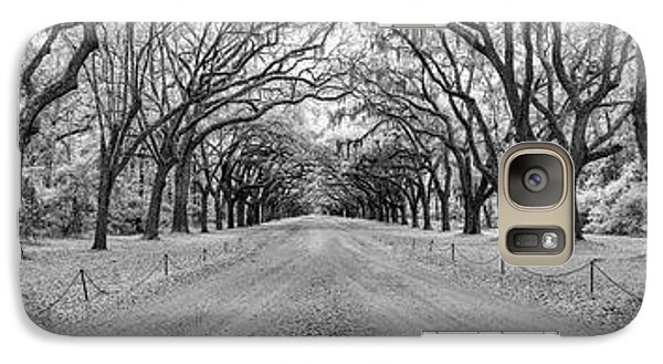 Galaxy Case featuring the photograph Wormsloe Pathway by Jon Glaser