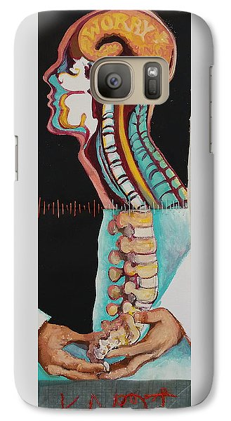 Galaxy Case featuring the painting Worry Knot by Tilly Strauss