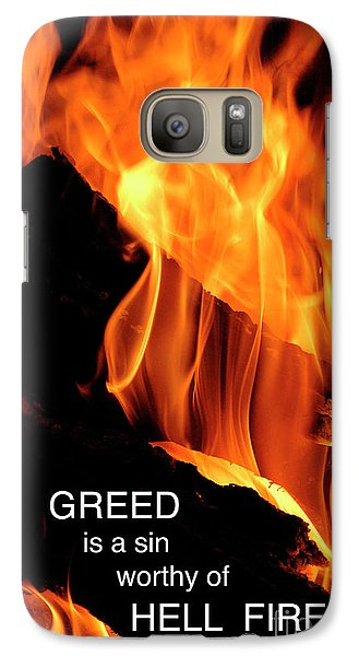 Galaxy Case featuring the photograph worthy of HELL fire by Paul W Faust - Impressions of Light