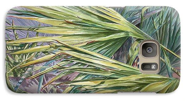 Galaxy Case featuring the painting Woven Fronds by Roxanne Tobaison