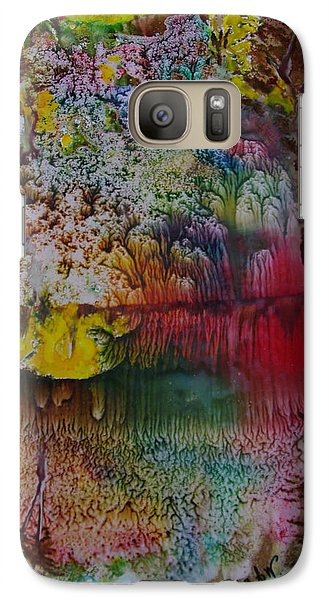 Galaxy Case featuring the painting Wow- Exotic Landscape by Sima Amid Wewetzer