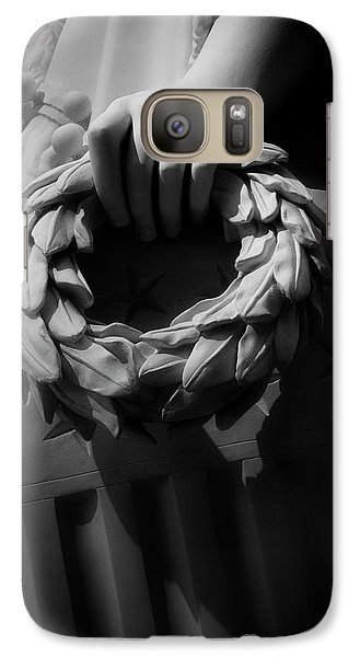 Galaxy Case featuring the photograph Wreath Of Victory And Shield by Chrystal Mimbs