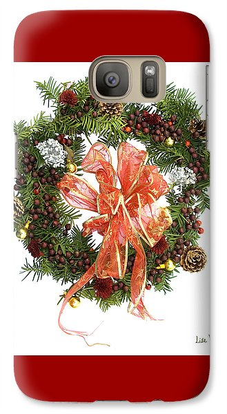 Galaxy Case featuring the digital art Wreath With Bow by Lise Winne