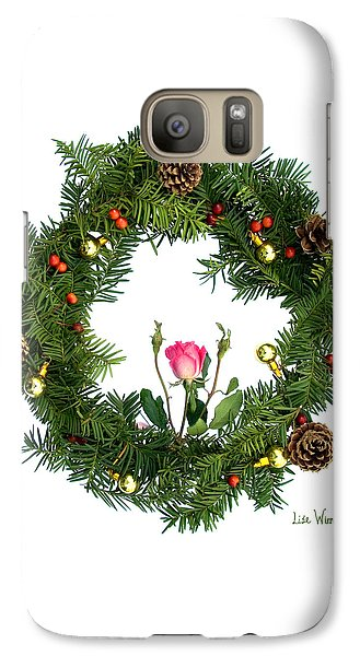 Galaxy Case featuring the digital art Wreath With Rose by Lise Winne