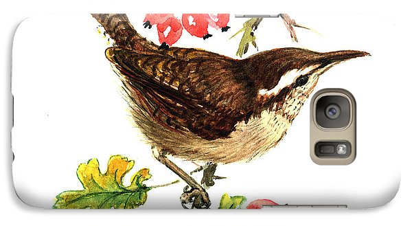 Wren And Rosehips Galaxy S7 Case by Nell Hill