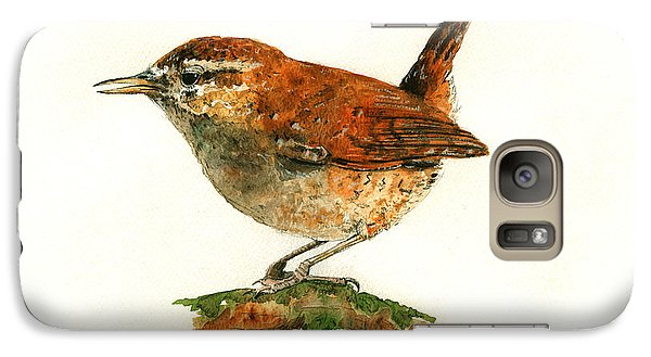 Wren Bird Art Painting Galaxy S7 Case by Juan  Bosco