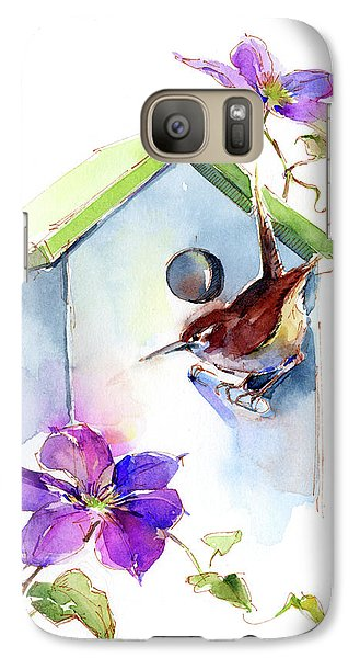 Wren With Birdhouse And Clematis Galaxy S7 Case