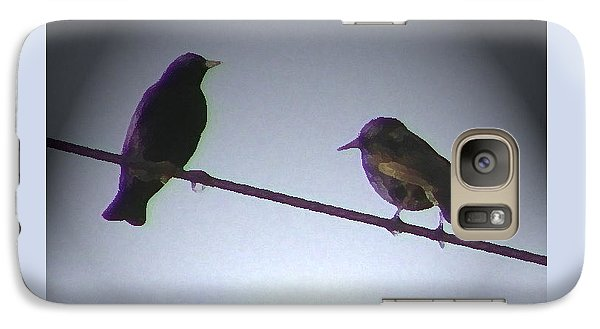 Galaxy Case featuring the photograph Wren Ya Goin Out Wit Me by Lenore Senior