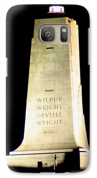 Galaxy Case featuring the photograph Wright Brothers' Memorial by Karen Harrison