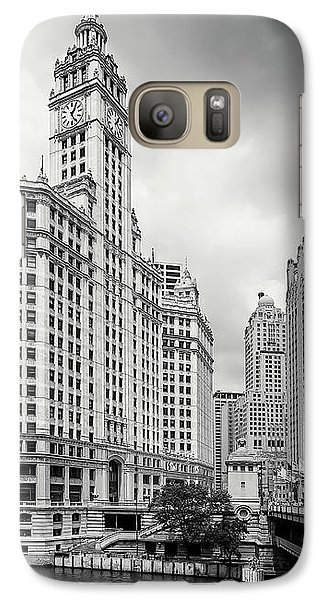 Galaxy Case featuring the photograph Wrigley Building Chicago by Adam Romanowicz