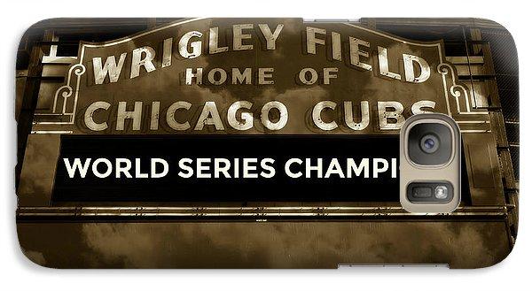 Wrigley Field Galaxy S7 Case - Wrigley Field Sign - Vintage by Stephen Stookey