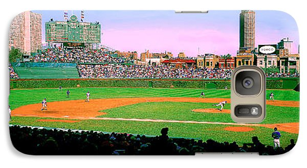 Galaxy Case featuring the photograph Wrigley Field  by Tom Jelen