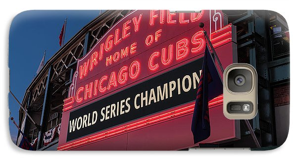 Wrigley Field World Series Marquee Galaxy S7 Case by Steve Gadomski