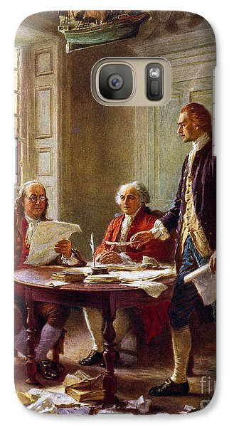 Writing The Declaration Of Independence, 1776, Galaxy S7 Case