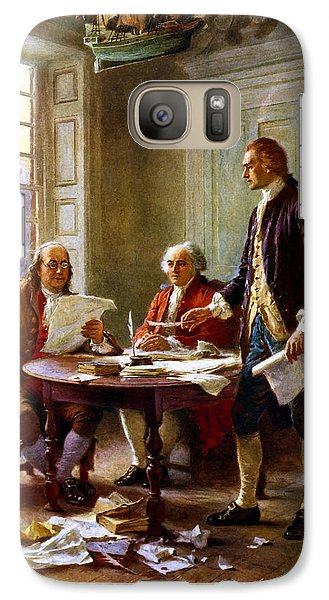 Writing The Declaration Of Independence Galaxy S7 Case by War Is Hell Store