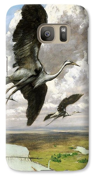 Galaxy Case featuring the painting Wundervogel by Pg Reproductions