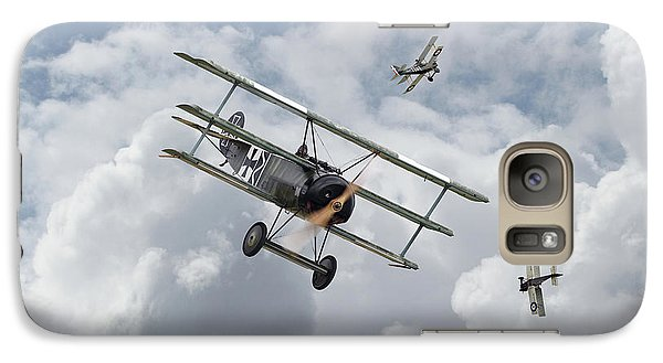 Galaxy Case featuring the photograph Ww1 - Fokker Dr1 - Predator by Pat Speirs