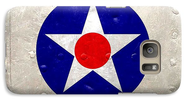 Galaxy Case featuring the digital art Ww2 Army Air Corp Insignia by John Wills