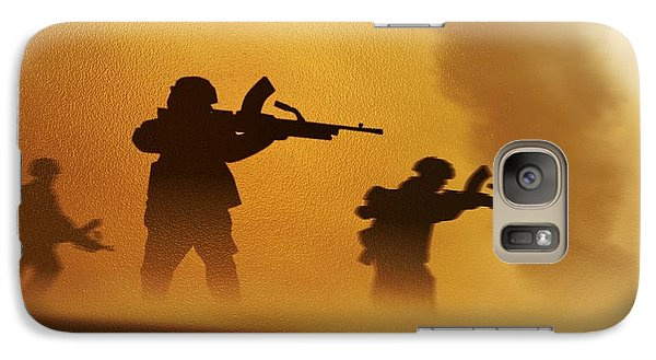 Galaxy Case featuring the digital art Ww2 British Soldiers On The Attack by John Wills