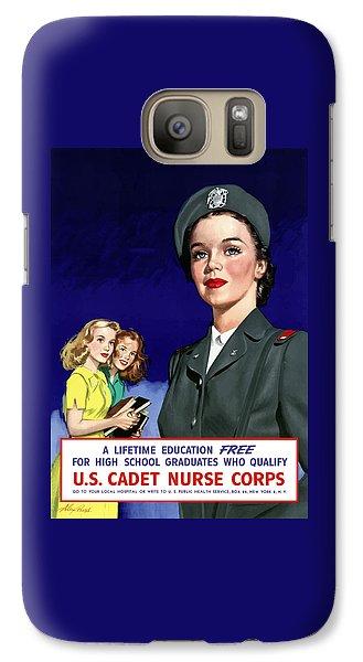Nurse Shark Galaxy S7 Case - Ww2 Us Cadet Nurse Corps by War Is Hell Store