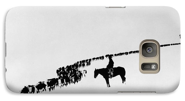 Horse Galaxy S7 Case - Wyoming: Cattle, C1920 by Granger