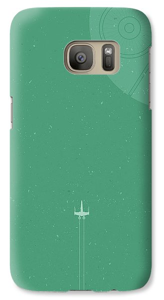 Space Ships Galaxy S7 Case - X-wing Meets Death Star by Samuel Whitton