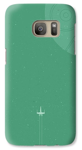 X-wing Meets Death Star Galaxy S7 Case by Samuel Whitton