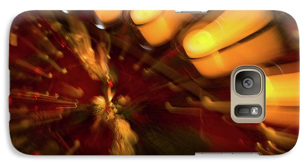Galaxy Case featuring the photograph Xmas Burst 1 by Rebecca Cozart
