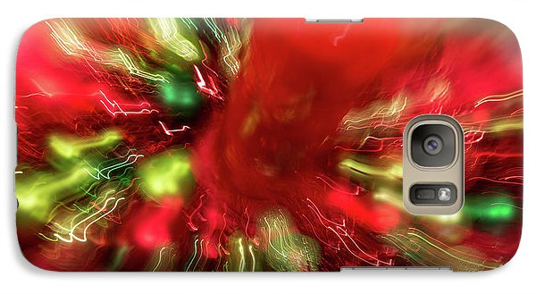Galaxy Case featuring the photograph Xmas Burst 2 by Rebecca Cozart