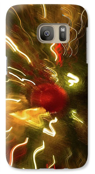 Galaxy Case featuring the photograph Xmas Burst 3 by Rebecca Cozart