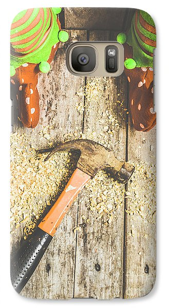 Elf Galaxy S7 Case - Xmas Workshop Elf by Jorgo Photography - Wall Art Gallery