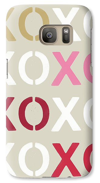 Galaxy Case featuring the mixed media Xoxo- Art By Linda Woods by Linda Woods